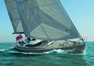 Oyster 72 sailing